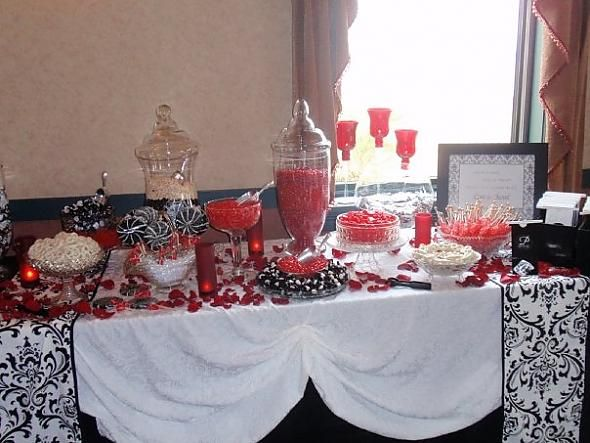 Only Red Candy Bar Idea For Graduation Or Wedding Reception
