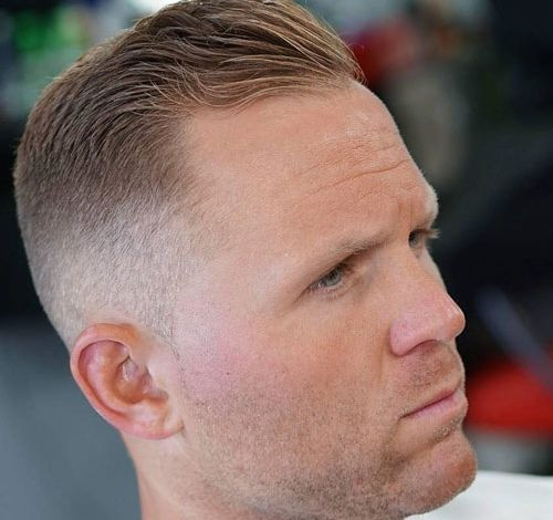 Haircuts For Balding Men High Fade With Short Side Sweep