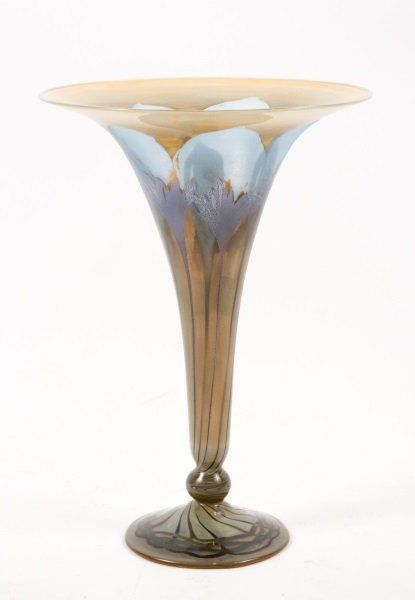 German Vera Walther Art Glass Vase On Magpie Antiquescollectibles