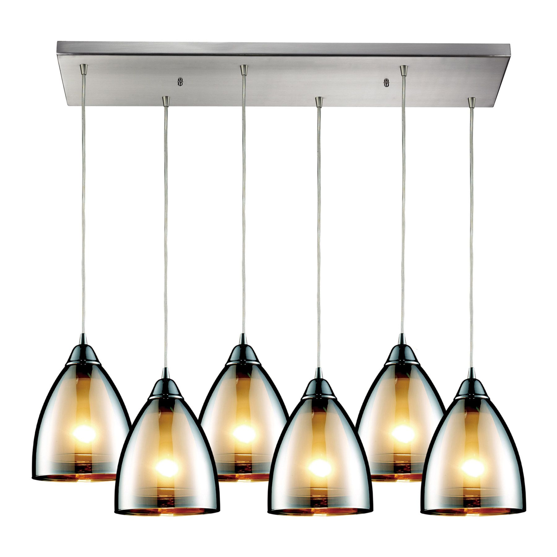 Elk Lighting Fixtures 10073 6rc Reflections 6 Light Multi Pendant Ceiling