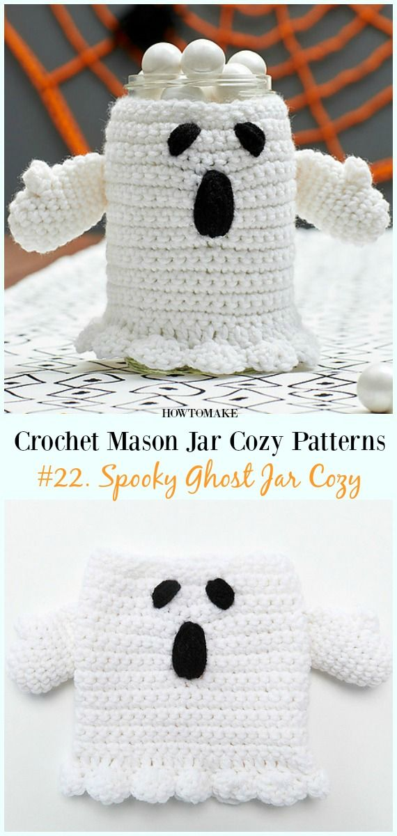 Crochet Mason Jar Cozy Free Patterns | crochet & shoes | Pinterest ...