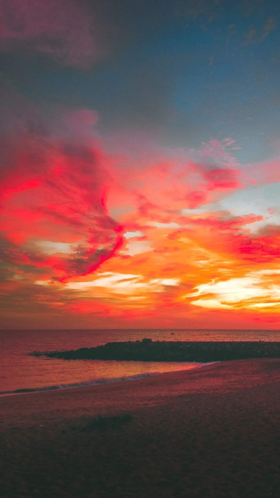 Sky In The Sunset Wallpaper Iphone Android Background Followme Sunset Wallpaper Beautiful Wallpapers Backgrounds Night Sky Wallpaper Hd wallpaper sunset sky red bridge