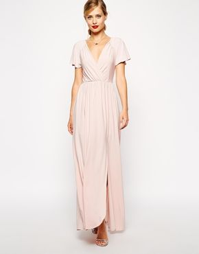 ASOS Flutter Sleeve Wrap Maxi Dress  02e3b9f15