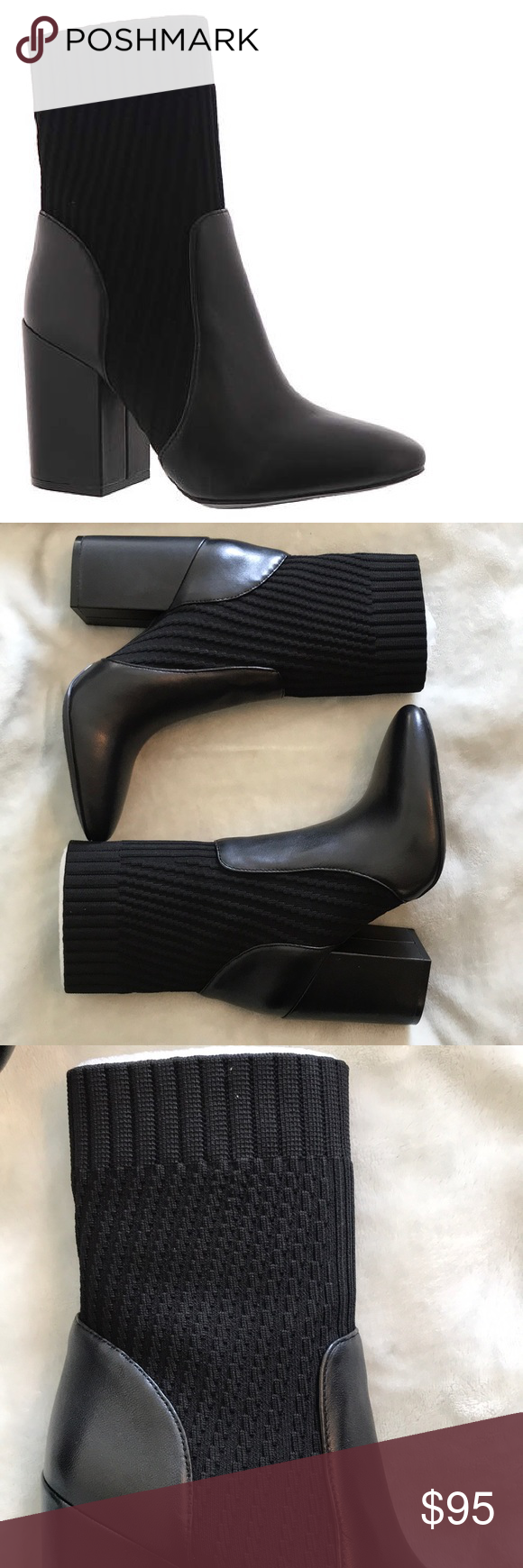 826ea445d17 Vince Camuto Diandra black bootie Slip right on Stretchy fabric Very  comfortable to wear Vince Camuto Shoes Ankle Boots   Booties