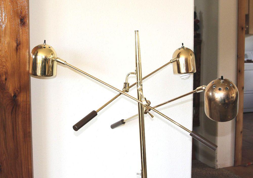 Mid Century Modern Arteluce Counterbalance Floor Lamp Brass Marble Floor Lamp Brass Floor Lamp Lamp