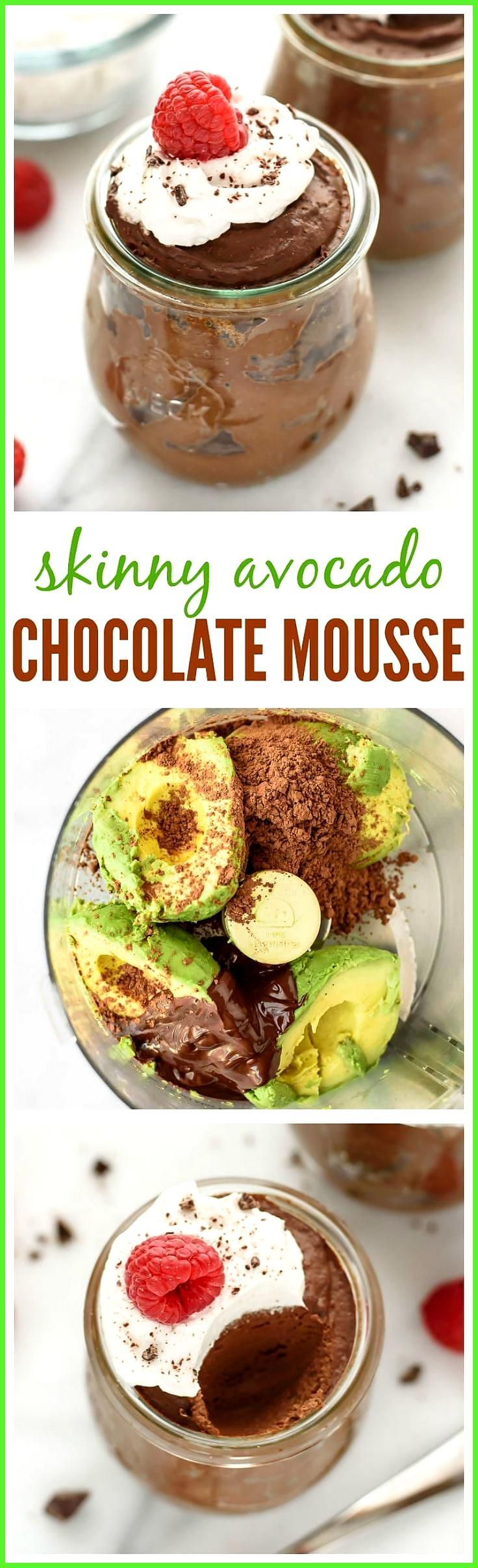 Avocado Chocolate Mousse An AMAZING gluten-free egg-free dairy-free and vegan dessert This Avocado