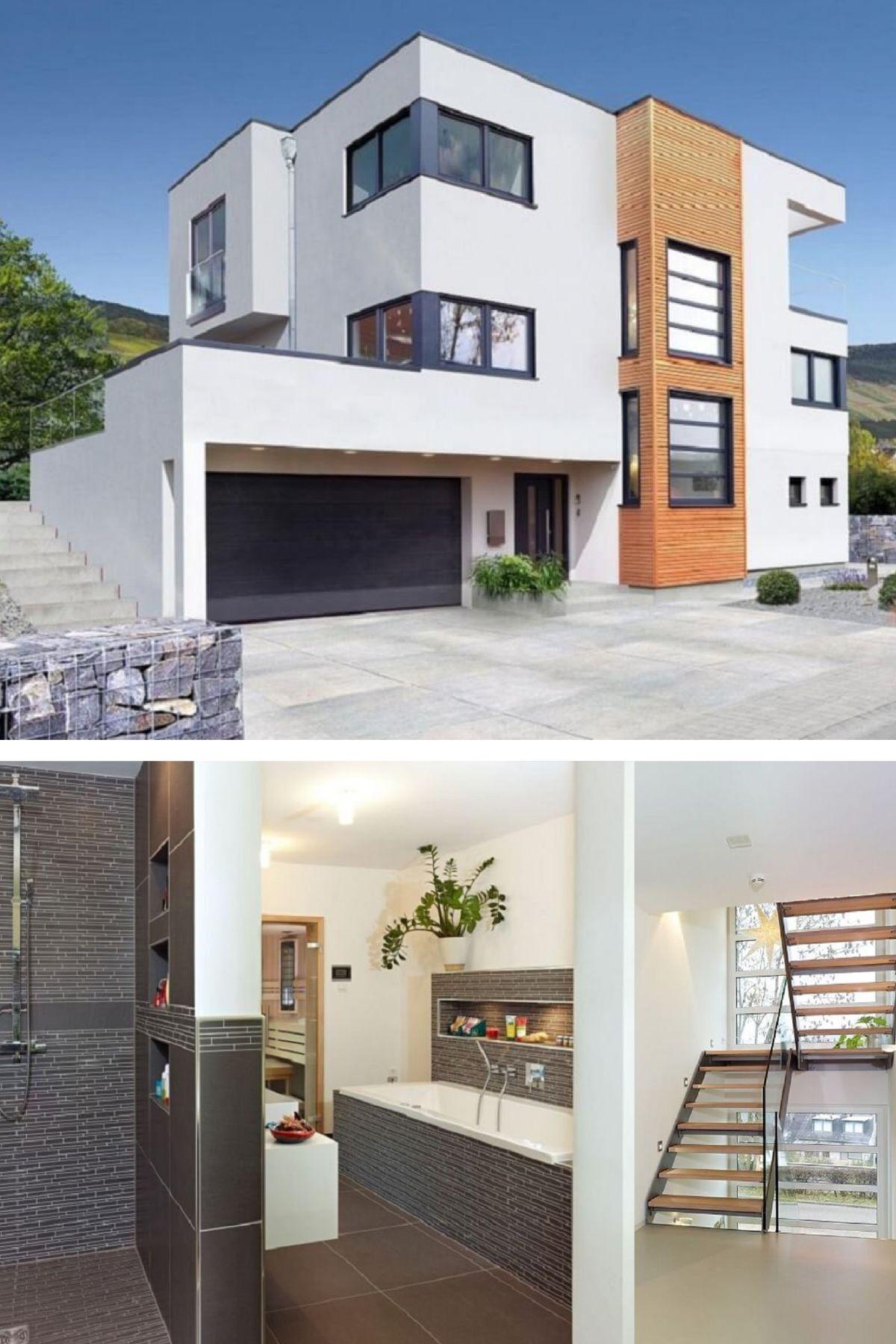 designhaus bauhausstil haus trier von streif haus moderne stadtvilla einfamilienhaus. Black Bedroom Furniture Sets. Home Design Ideas