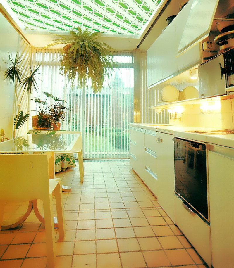 Interior Design Decorating: 80s Kitchen With Diagonal Stripes