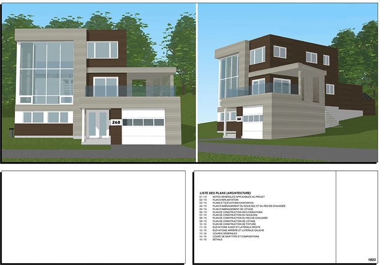 Exemple de plans pour ajout d\u0027étage et rallonge de maison (page 0