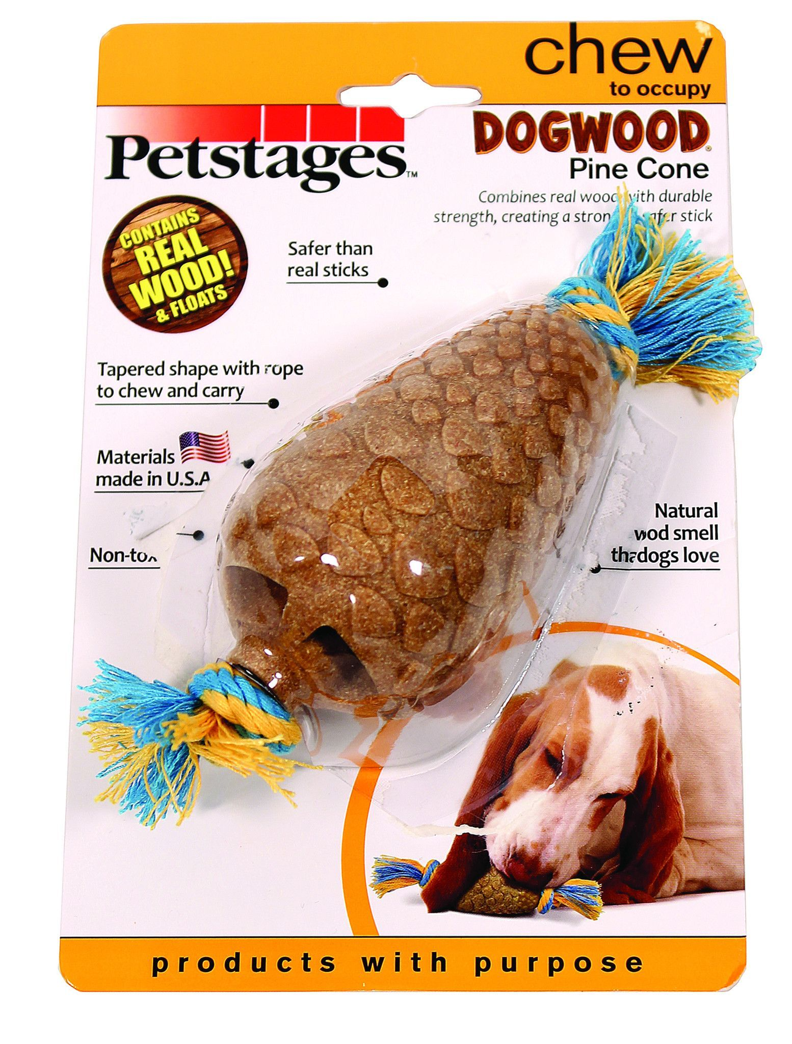 Dogwood Pine Cone Dog Chew Toy With Images Petstages Dog Chew