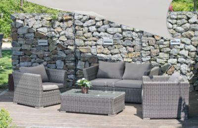 Wundervoll Garten Lounge Sitzgruppe Relax Sofa + Tisch + Sessel Terrasse Möbel Rattan  Optik Jetzt Bestellen Unter