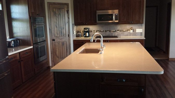 Create A Neat U0026 Chic Look With A Concrete Kitchen Island And Concrete  Countertops / Stoneworth