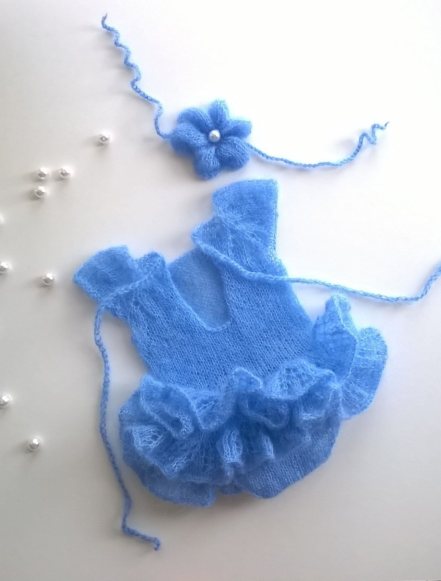 Newborn Photography Props set,Knitted baby clothes Romper ...