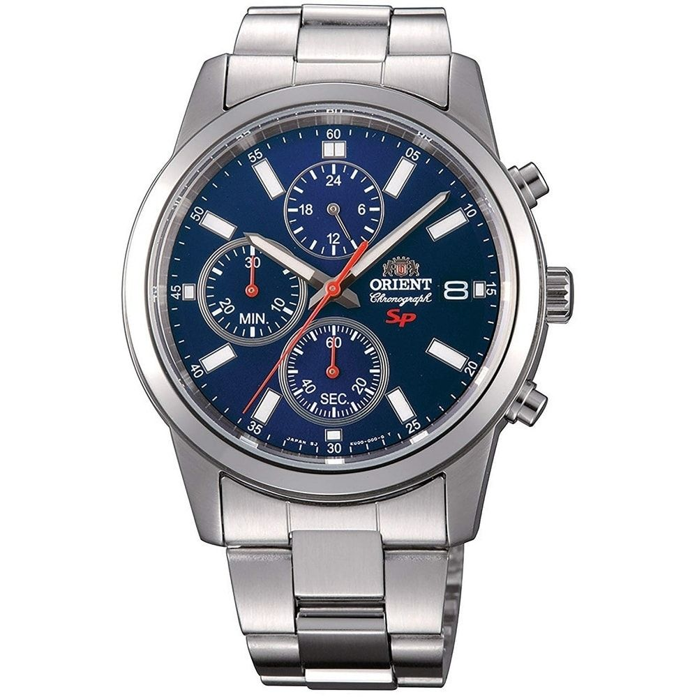 Orient Men's SP Chronograph Chronograph Stainless Steel Watch, Silver Size: One Size Fits All #sportswatches