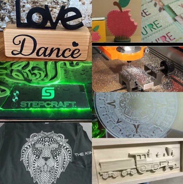 Tell us! Which is your favorite way to create 3-dimensional art?  thinkitmakeit  STEPCRAFT  CNC  stepcraftcnc  cncrouter  makersgonnamake  crafters  diy  woodworking  cncmilling  3dprinting All-in-One! Get inspired and CALL TODAY! 203-556-1856 • info@stepcraft.us