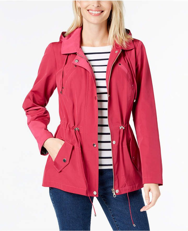 a75f4dc10 Charter Club Water-Resistant Hooded Anorak Jacket in 2019