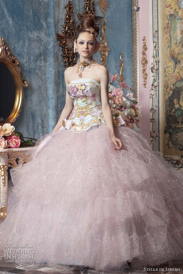 Color Wedding Dresses by Stella de Libero | Stella de Libero ...
