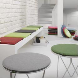 Violan Sitzkissen rund Metz Textil & Design - #Design #dunkler #Metz #rund #Sitzkissen #Textil #Violan
