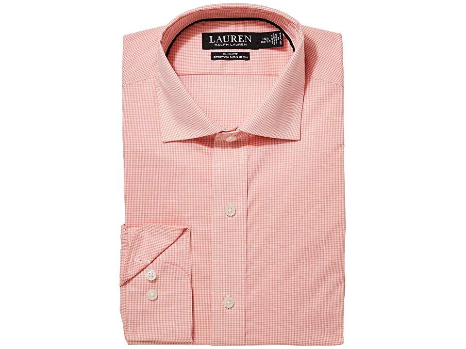 LAUREN RALPH LAUREN Mens Slim Fit No-Iron Cotton Dress Shirt