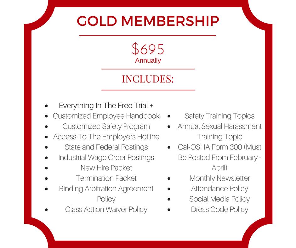 Goldmembership Hrcompliance Employee Employer California