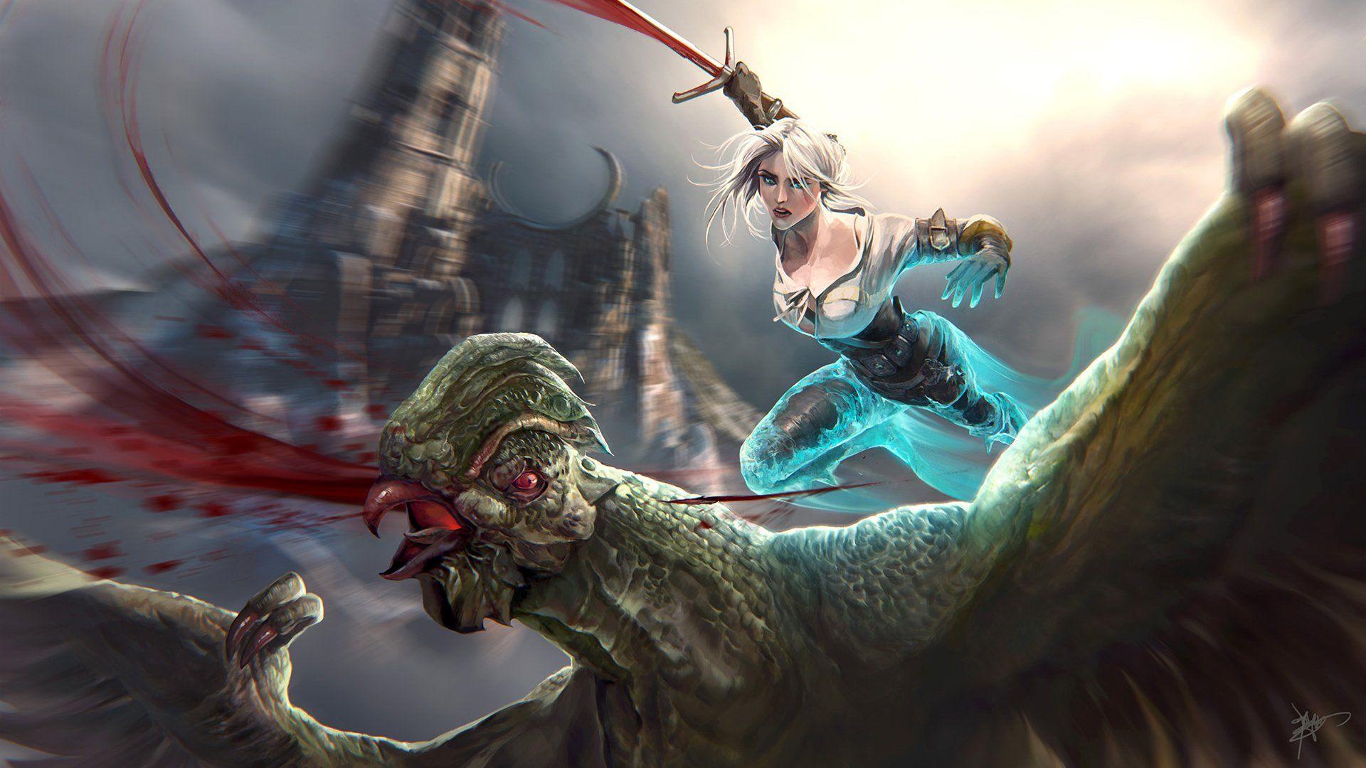 Gry Wideo Wiedźmin 3 Dziki Gon Ciri (The Witcher) Tapeta