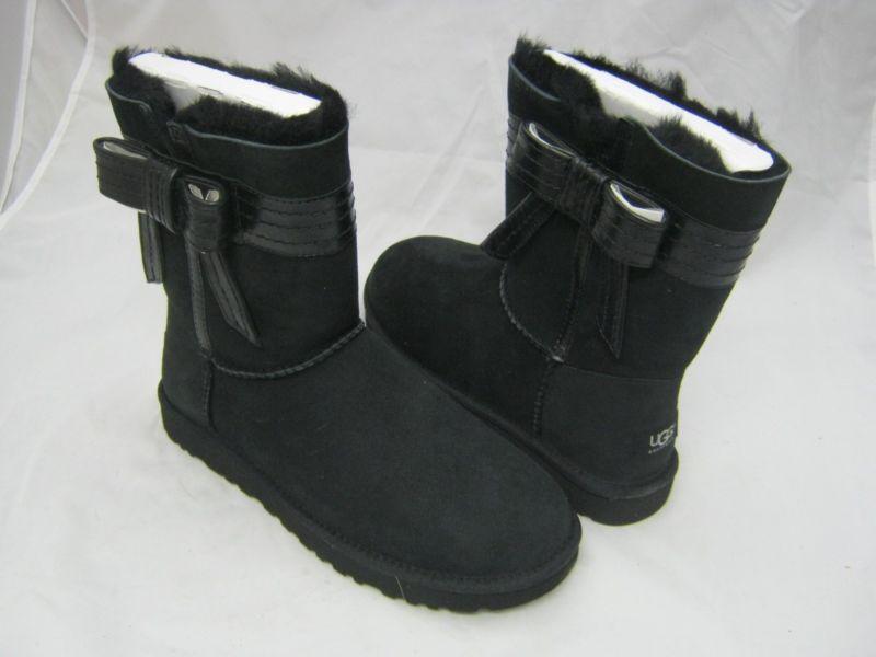 7387260d27b Ugg Australia Boots Josette Bow Black Boots Size 9 | Fashion | Ugg ...