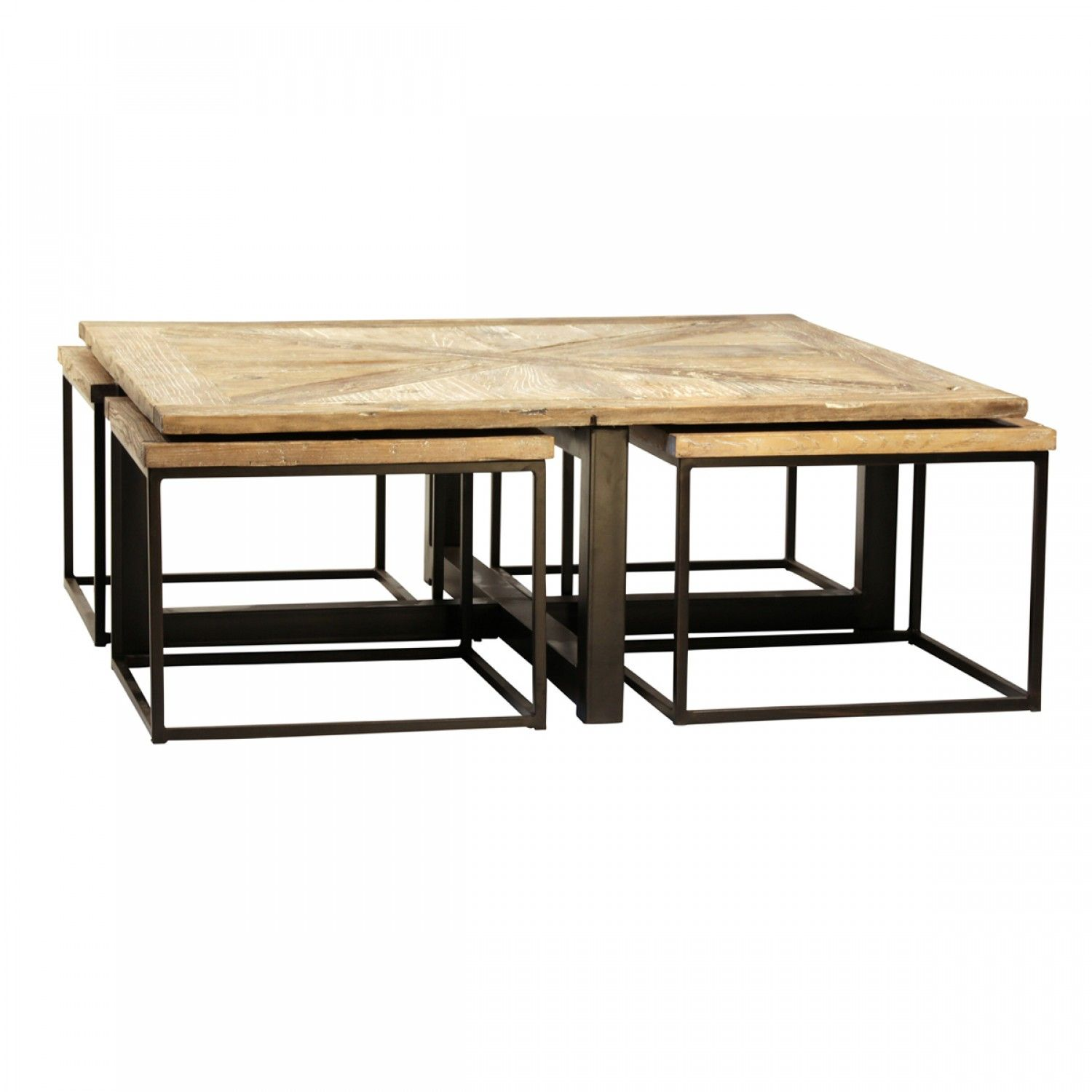 Parquet Drayton Nesting Coffee Tables Set of 5 $1 399 20