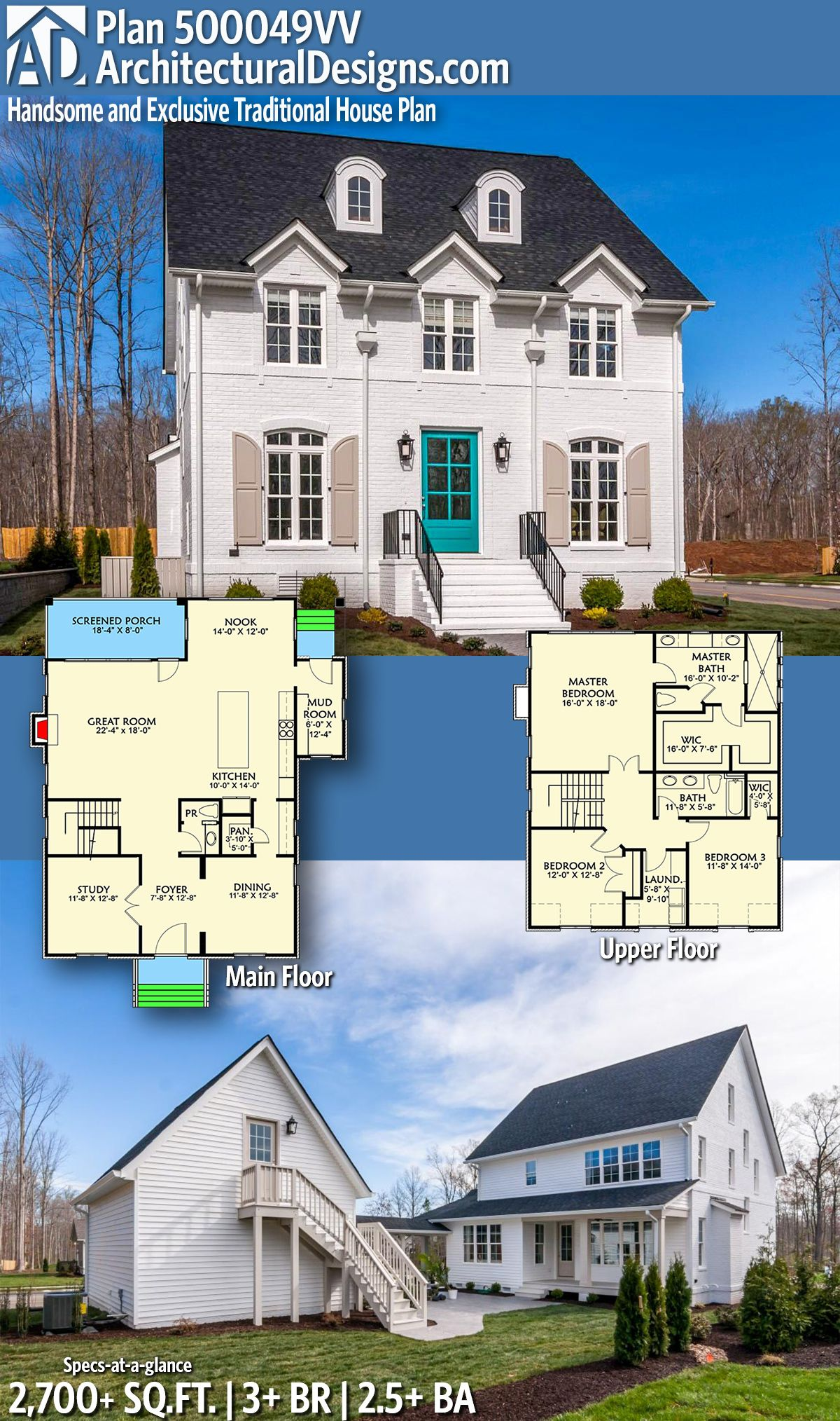 Architectural Designs Exclusive House Plan 500049VV | 3+ beds | 2.5+ ...