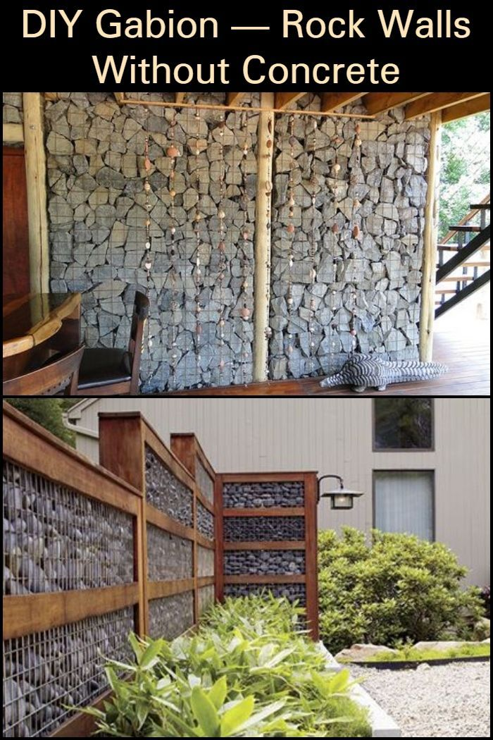 DIY Gabion — Rock Walls Without Concrete in 2020 Rock