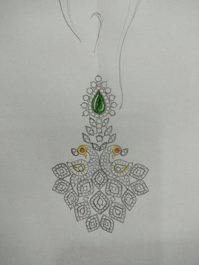 Gold pendent pendant set jewelry design drawing pencil design embroidery patterns free