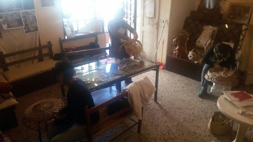 Corso di cesteria sperimentale a Tivoli presso ass. L'erba voglio piazza Domenico Tani 6