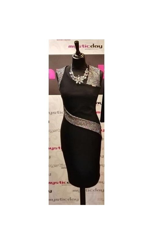 3547902653 Mystic Day ezüst mintával díszített alakformáló ruha   Mystic Day ...