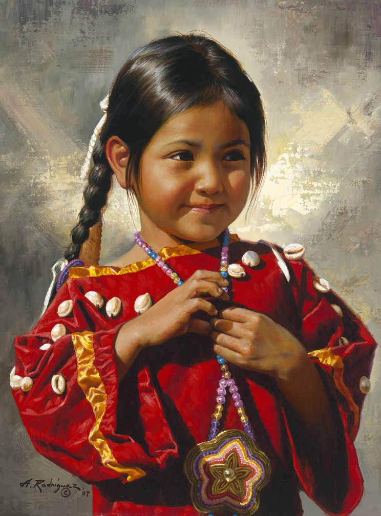 """Alfredo Rodriguez: Little Red Flower, 2007, oil on canvas, 16"""" x 12"""""""