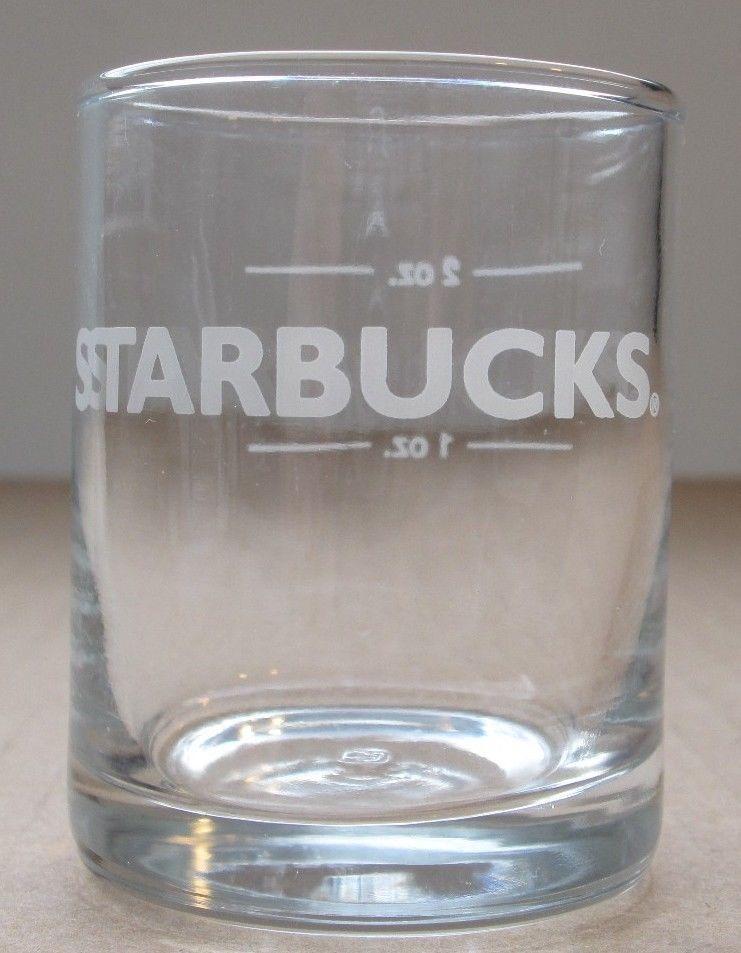 Starbucks Shot Glass Clear Espresso Coffee Shotglass White Logo 1oz 2oz Marks #Starbucks