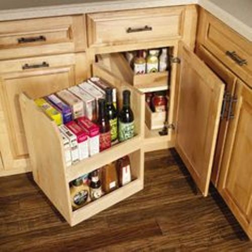 How To Organize Deep Corner Kitchen Cabinets Corner Kitchen Cabinet Kitchen Cabinet Layout Kitchen Corner Storage