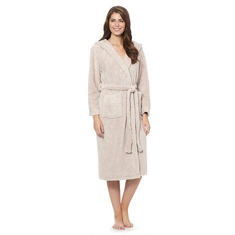 J by Jasper Conran Designer natural luxury hooded fleece robe- at ...
