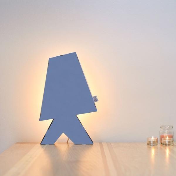Lampe à poser en carton bleu Delft | Lampe en carton, Delft