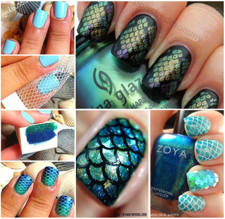 30+ Classic Mermaid Nails art Design | Mermaid nail art, Mermaid ...