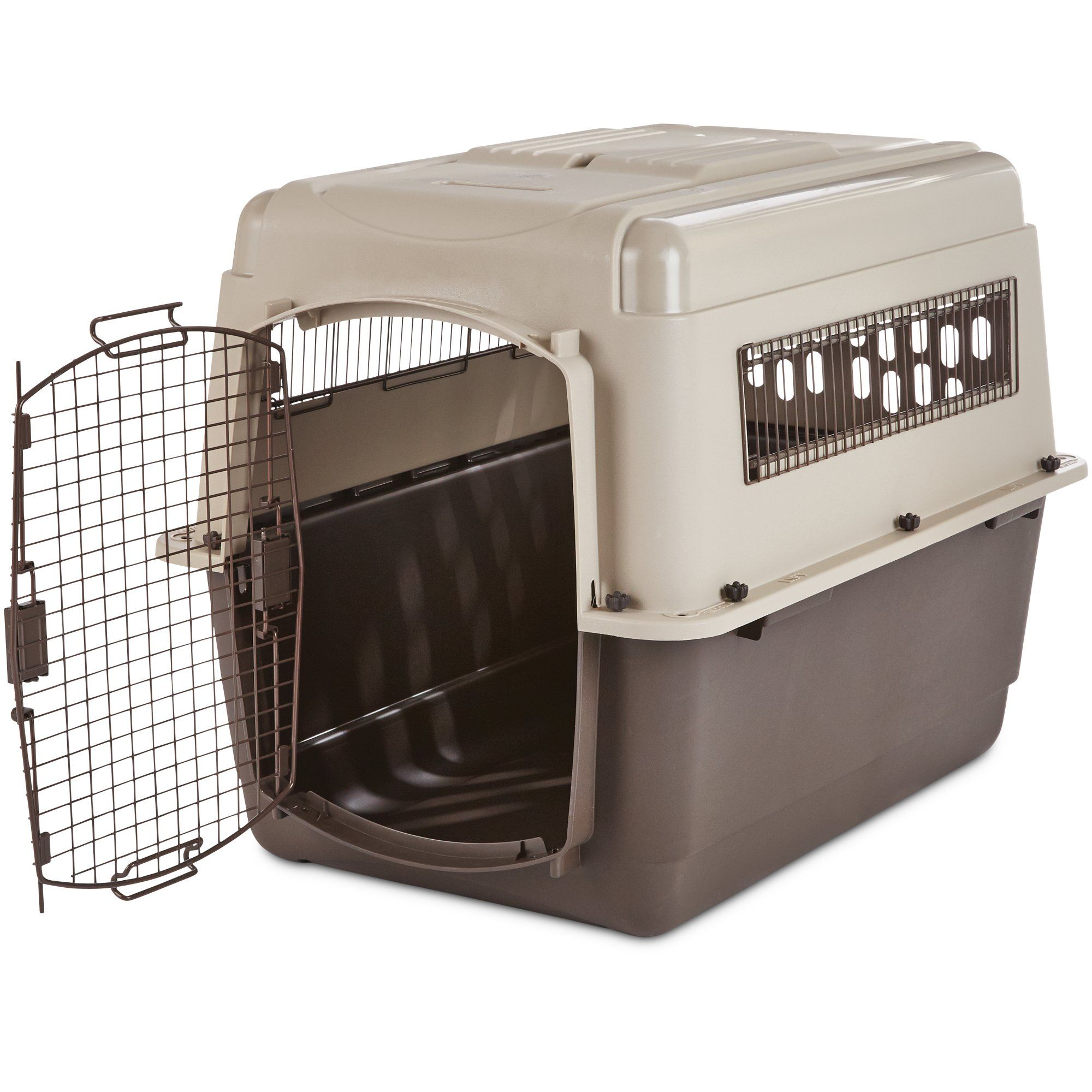 You Me Tan Premium Kennel Take Off On Adventures With Your Favorite Furry Friend In The You Me Premium Kennel This Plastic Dog Kennel Featur Pinteres