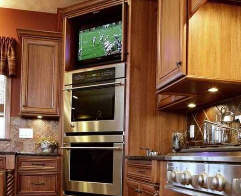 Small Flat Screen Tv Kitchen Cool Small Kitchens With Tv The