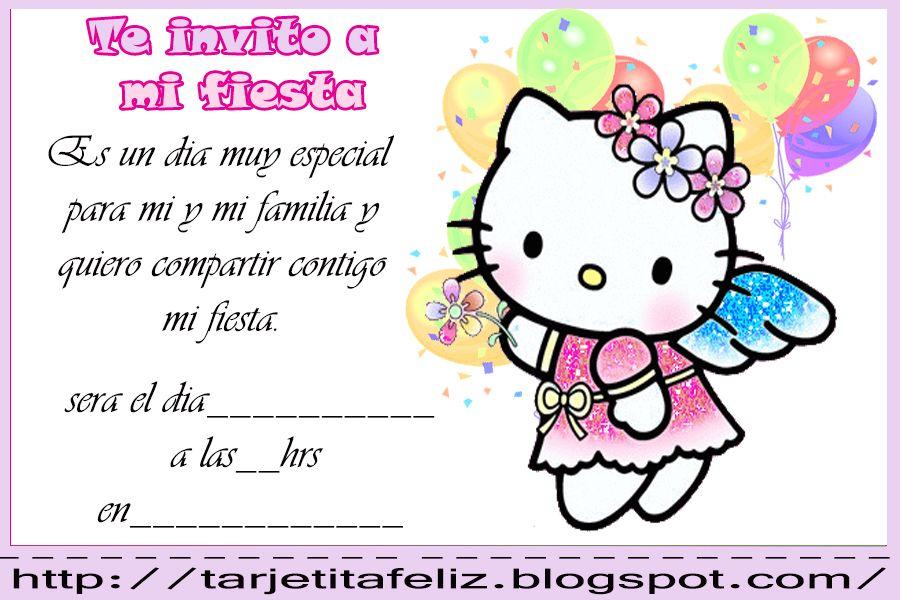 Tarjetas De Cumpleaños Hello Kitty Para Fondo De Pantalla En
