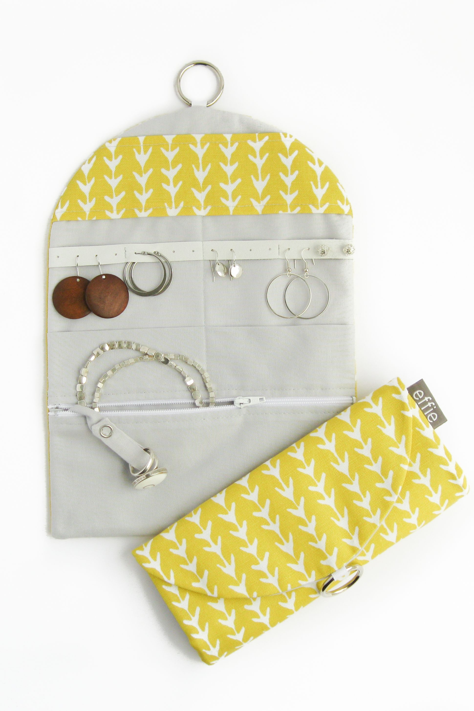 Jewelry Travel Organizer Yellow Vines Travel jewelry and Products