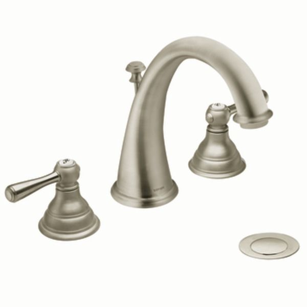 Master Bath Faucets - Kingsley Brushed nickel two-handle high arc ...