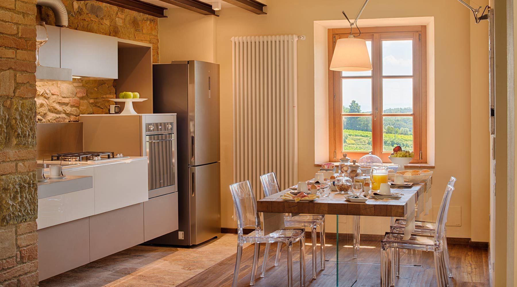 b&b di design toscano con cucina moderna