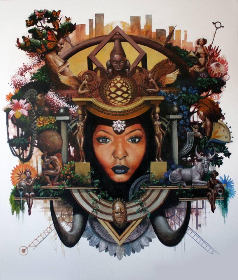 Artist loyiso mkize female art black women art artist