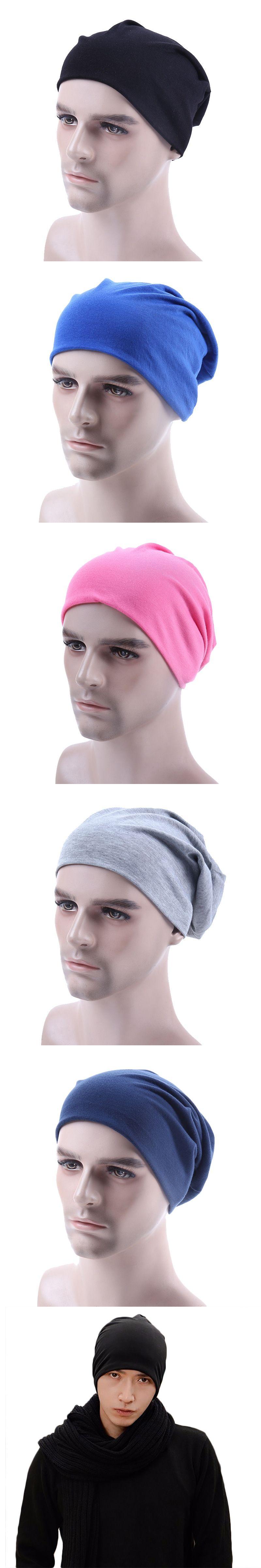aa3cfa51493 Fashion Breathable Comfortable Spring Autumn Caps Men s Beanies  amp   Skullies Head Cap Cotton Polyester Male