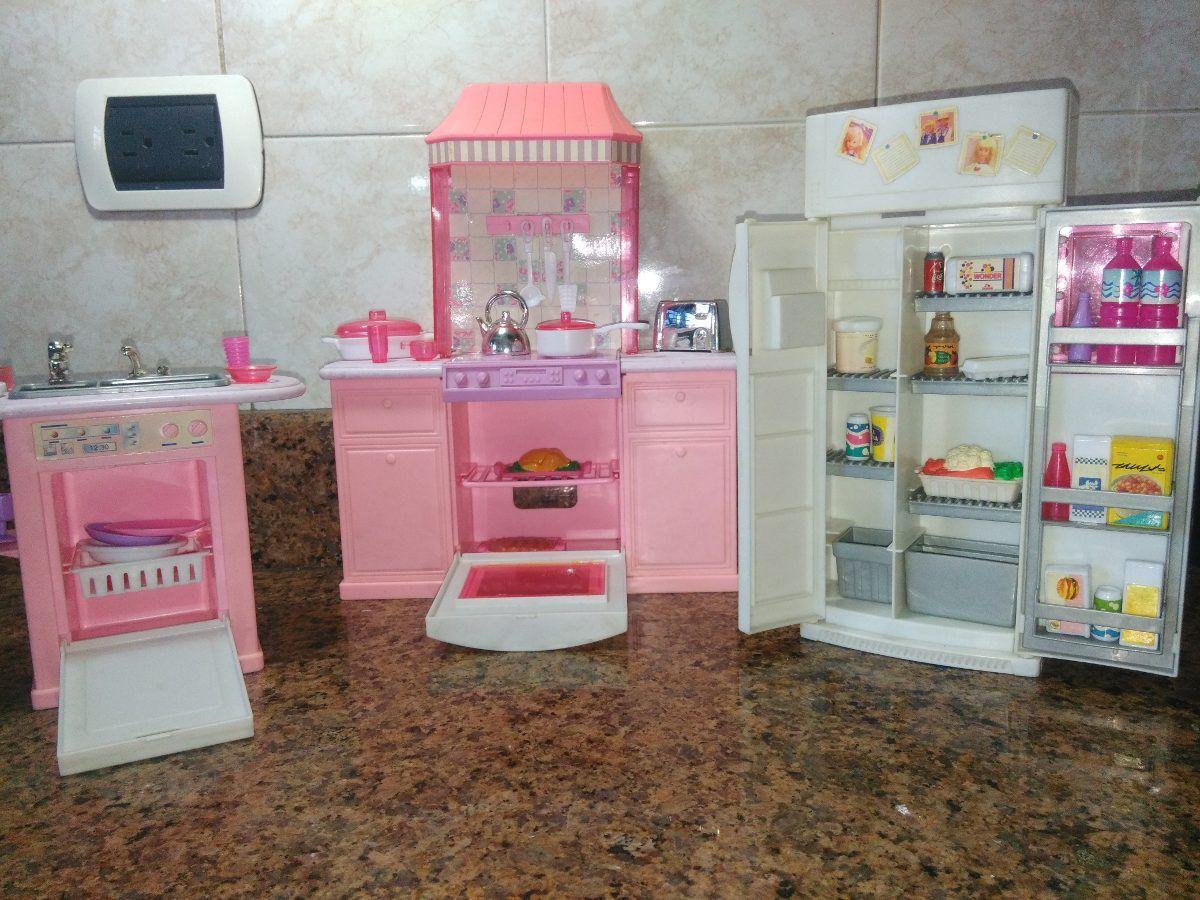 Cocina Para La Barbie Incluye 51 Accesorios Cosas De Barbie