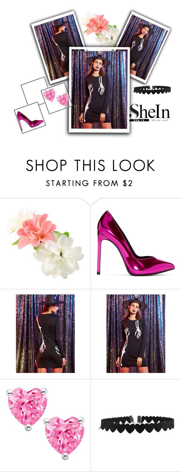 """""""Shein"""" by tulumbara ❤ liked on Polyvore featuring Yves Saint Laurent"""