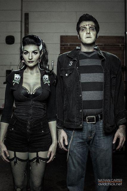 Frankenstein couples costume Halloweenie ready! Pinterest