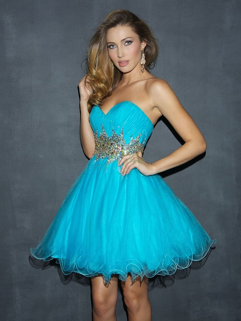 Blue Cocktail Prom Dress | ... Prom Dresses/ Cocktail Dresses ...